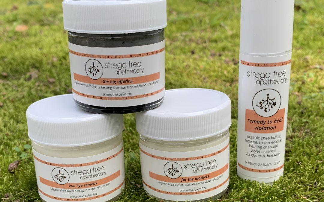 Introducing Strega Tree Apothecary and Our line of Protective Balms